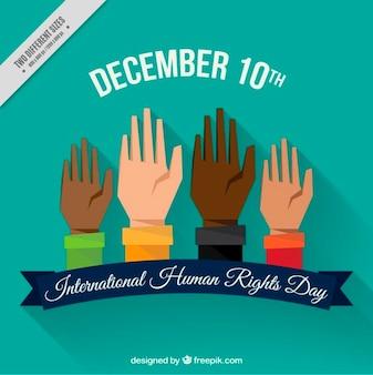 Fundo no design plano do dia internacional dos direitos humanos