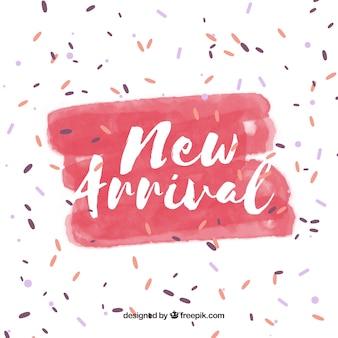 Fundo novo conceito de chegada com confete