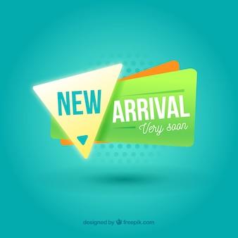 Fundo novo conceito de chegada