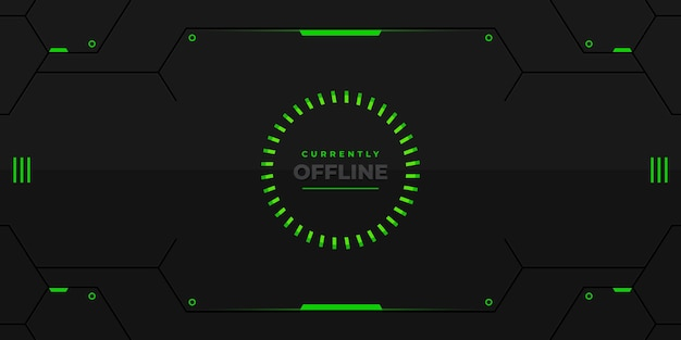 Fundo off-line de contração futurista de néon verde