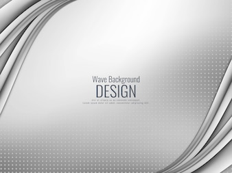 Fundo ondulado cinzento elegante abstrato