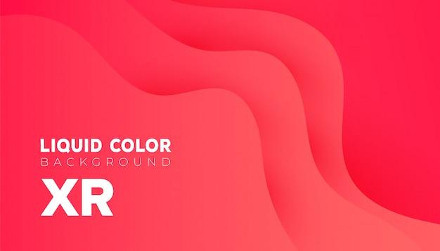 Fundo ondulado dinâmico abstrato líquido plástico. moderno colorido