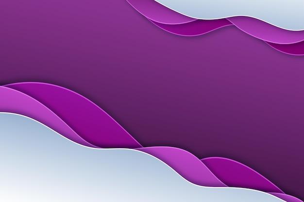 Fundo ondulado gradiente roxo estilo papel