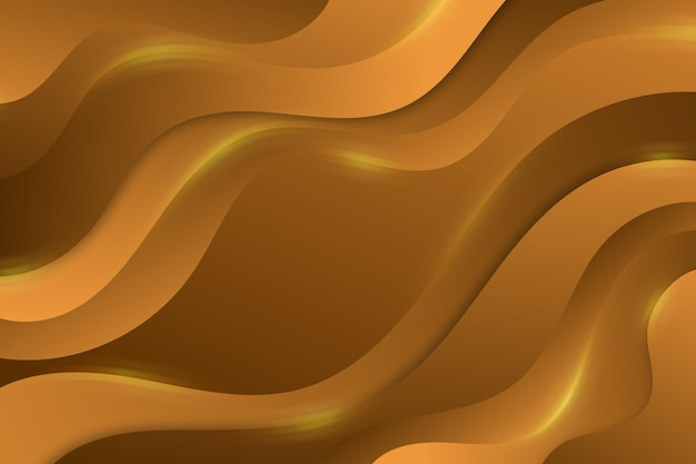Fundo ondulado luxo de ouro
