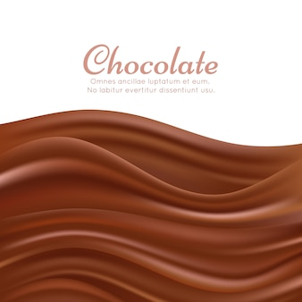 Fundo ondulado respingo de chocolate