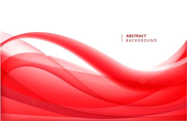 Fundo ondulado vermelho abstrato. ilustração de movimento de fluxo de curva