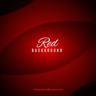 Fundo ondulado vermelho abstrato