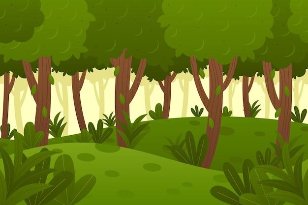 Fundo orgânico de selva plana