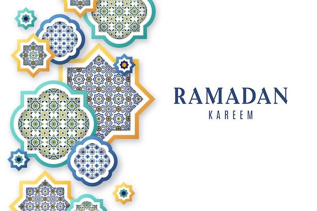 Fundo ornamental árabe em estilo de jornal