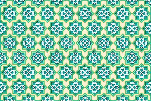 Fundo ornamental árabe tridimensional realista