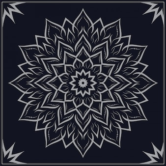 Fundo ornamental de luxo mandala arabesco