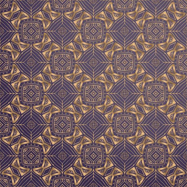 Fundo ornamental de luxo na cor ouro