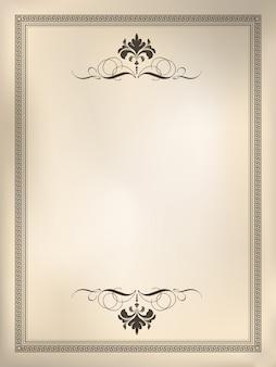 Fundo ornamental moldura vintage