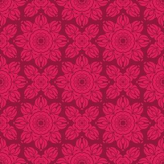 Fundo ornamental. teste padrão de flor perfeita.
