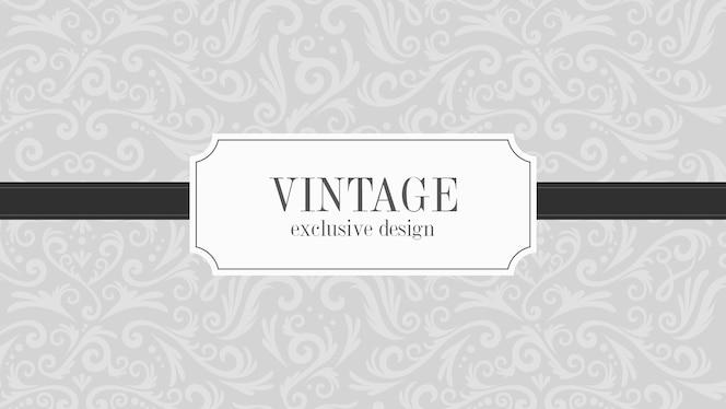Fundo ornamental vintage de luxo cinza