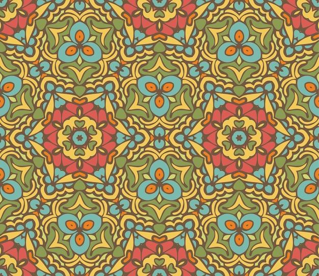 Fundo ornamental vintage festivo de vetor floral abstrato