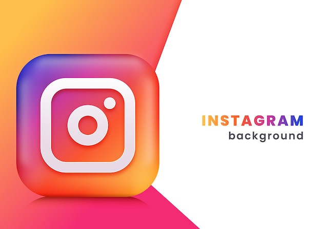 Fundo ou banner 3d do instagram