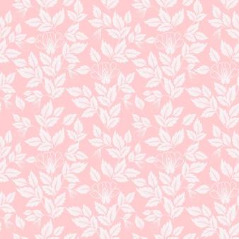 Fundo padrão de padrões florais