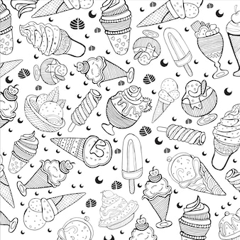 Fundo padrão de sorvete