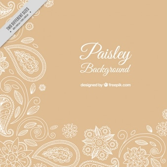 Fundo paisley decorativa