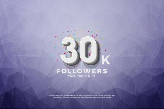 Fundo para trinta mil seguidores com cristais azuis