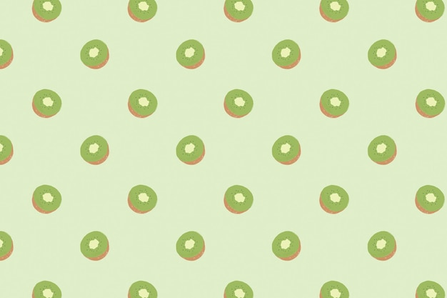 Fundo pastel de padrão kiwi sem costura vector
