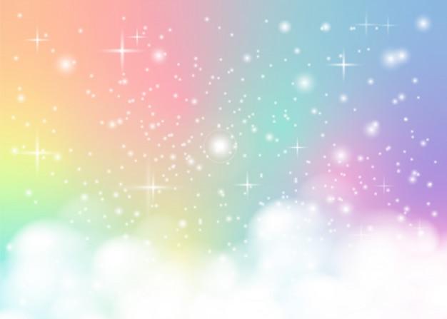 Fundo pastel de paraíso de arco-íris
