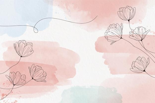 Fundo pastel suave com flores