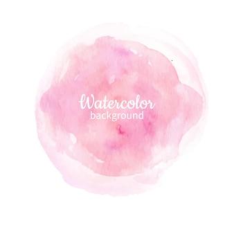 Fundo pintado à mão abstrata do rosa da aguarela. textura do círculo de aquarela