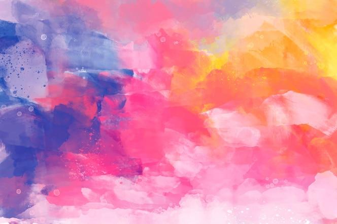 Fundo pintado à mão em cores diferentes