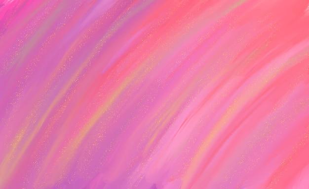 Fundo pintado à mão em cores rosa Vetor grátis