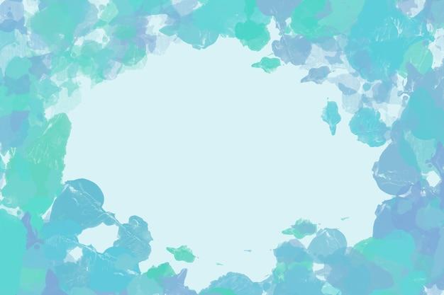 Fundo pintado de azul e verde Vetor grátis