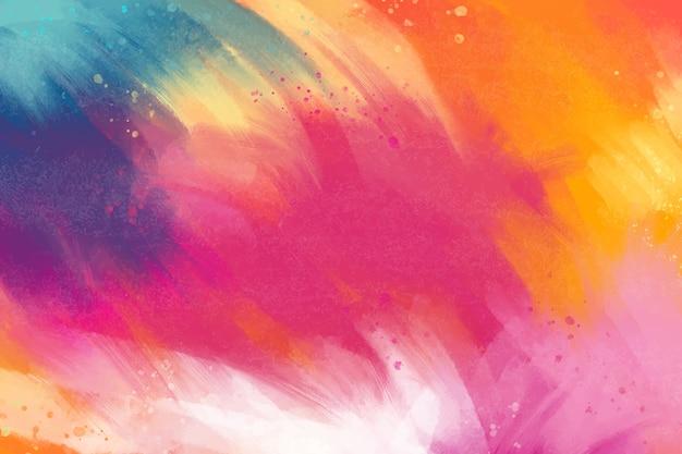 Fundo pintado em paleta multicolorida