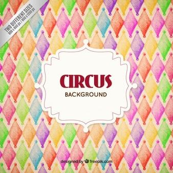 Fundo pintado mão colorido do circo