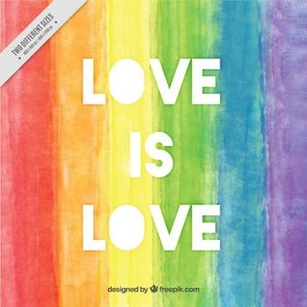 Fundo pintado mão com a frase de amor