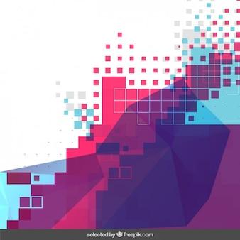 Fundo pixelated colorido