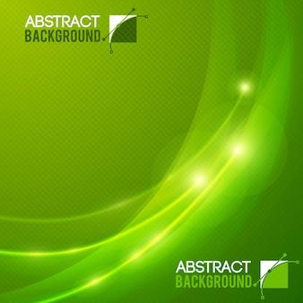 Fundo plano abstrato de cor verde com ilustração vetorial de efeitos de luz