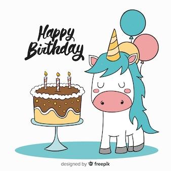 Fundo plano animal de aniversário