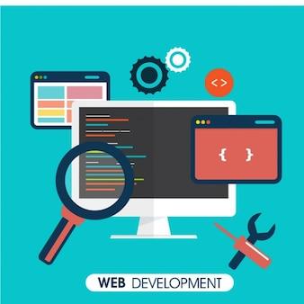 Fundo plano de desenvolvimento web