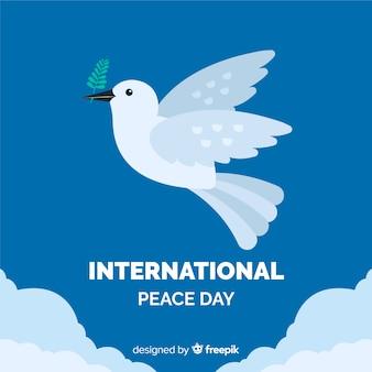 Fundo plano de dia de paz com pomba