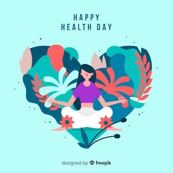 Fundo plano de dia de saúde do mundo