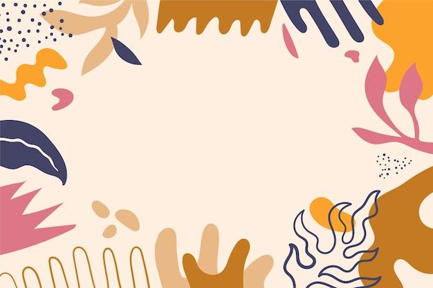Fundo plano de formas abstratas desenhadas à mão