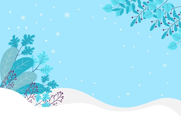 Fundo plano de inverno