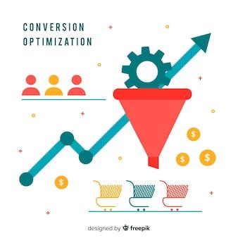 Fundo plano de otimização de marketing