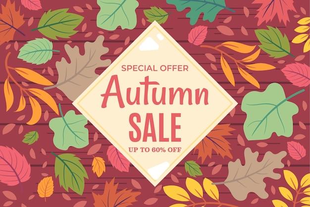 Fundo plano de venda de outono