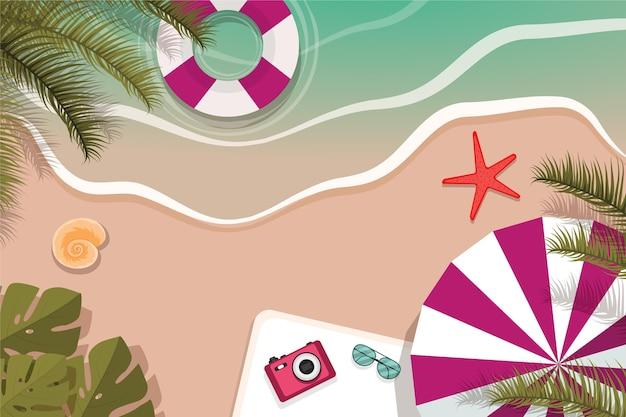 Fundo plano de verão para videochamadas