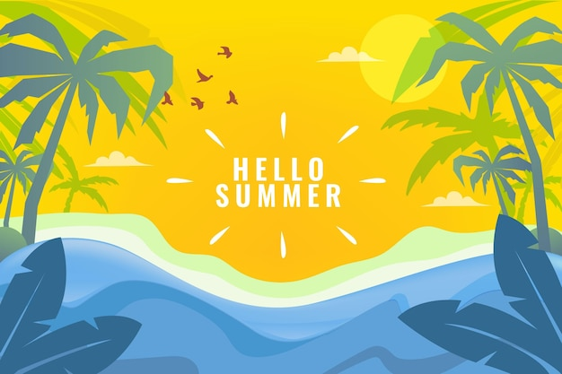 Fundo plano de verão