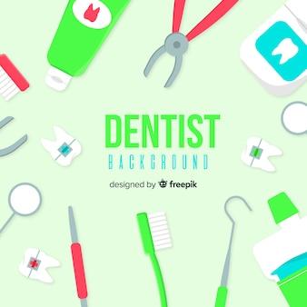 Fundo plano dentista