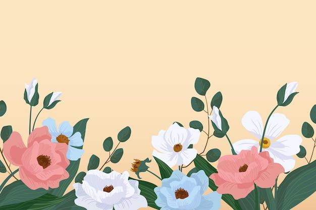 Fundo plano detalhado da primavera
