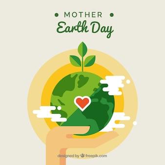 Fundo plano do dia da mãe terra